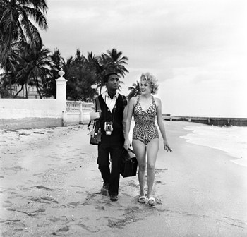 Sammy Davis, Jr. and Maria Singer, Miami Beach, 1955