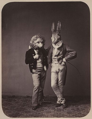 vintage-halloween-costumes-fox-and-hare